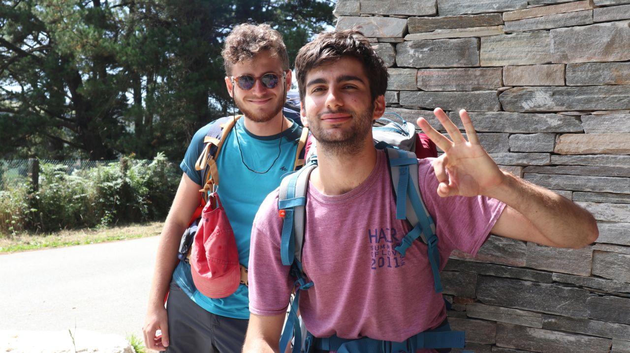 Antonio e Flavio a pochi chilometri dall'arrivo a Gontan